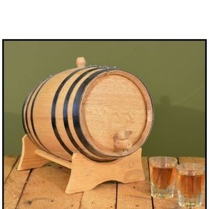 Dining - Naturally Aged 2 Liter American Oak Barrel w/Stand